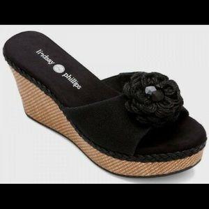 Lindsay Phillips Devon wedge sandal